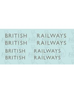 Garter Blue Class A4 Streamlined Tender Lettering - BRITISH RAILWAYS from March 1948