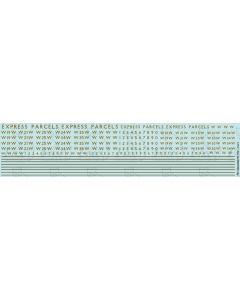 RAZOR-EDGE RAILCAR EXPRESS PARCELS (metallic gold)