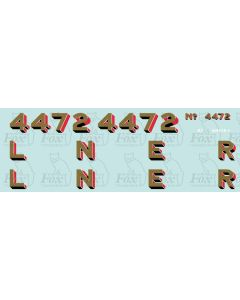 LNER Flying Scotsman Numbering and Tender Lettering. No White highlights on 2mm version