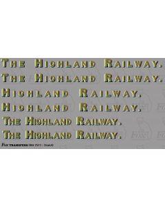 HR Highland Railway Full Company Namesets