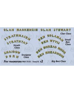 Highland Railway Selection of Namesets