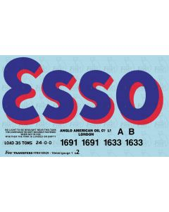 Early ESSO bogie tanker graphics