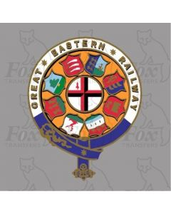 GER GREAT EASTERN RAILWAY CRESTS - 1 pair 7 inch