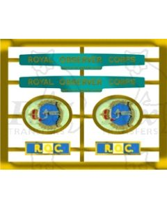 34050 ROYAL OBSERVER CORPS includes service ribbons
