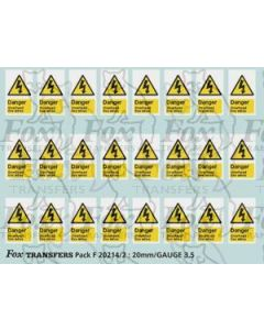Overhead Live Wire Warning Flashes (1999 onwards)