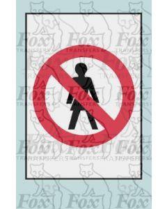 No Entry - STICKER