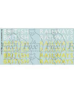 Original LNER style British Railways Lettering (10 inch)