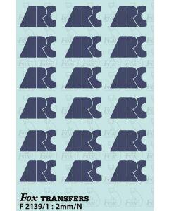 ARC Loco/Hopper Logos (1998) - 9 pairs