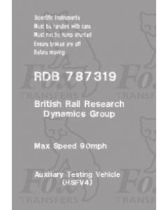 Departmental Brandings - RDB 787319 HSFV4 (2 sheets)
