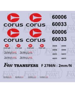 Corus logos/detailing for Class 60 silver-liveried locos