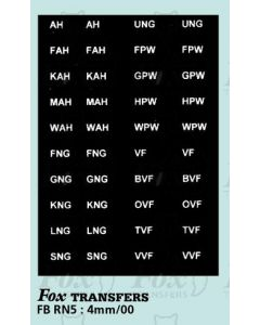 Numberplate letters - EASTERN COUNTIES