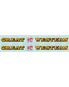 1927-1934 : GREAT (twin shield crest) WESTERN Loco Lettering yellow/red