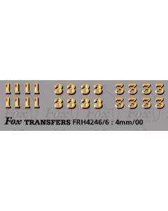 LMS 1930s Serif style Coaching Stock Exterior Door 1 & 3 Classifications