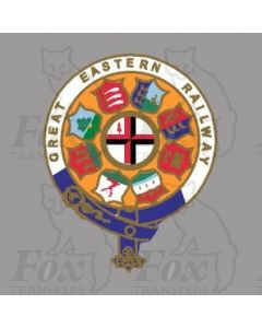 GER GREAT EASTERN RAILWAY CRESTS - 1 pair 10.5 inch