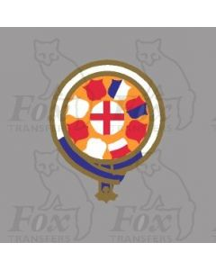 GER GREAT EASTERN RAILWAY CRESTS - 1 pair of each size