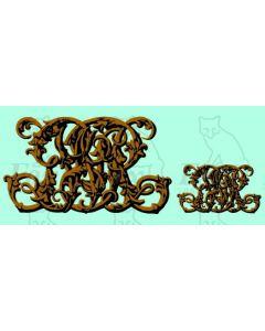 GWR monogram (1870-1912) - 1 PAIR LARGE ONLY