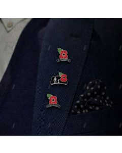 LAPEL/TIE PIN BADGE - UNIQUE POPPY DESIGNS